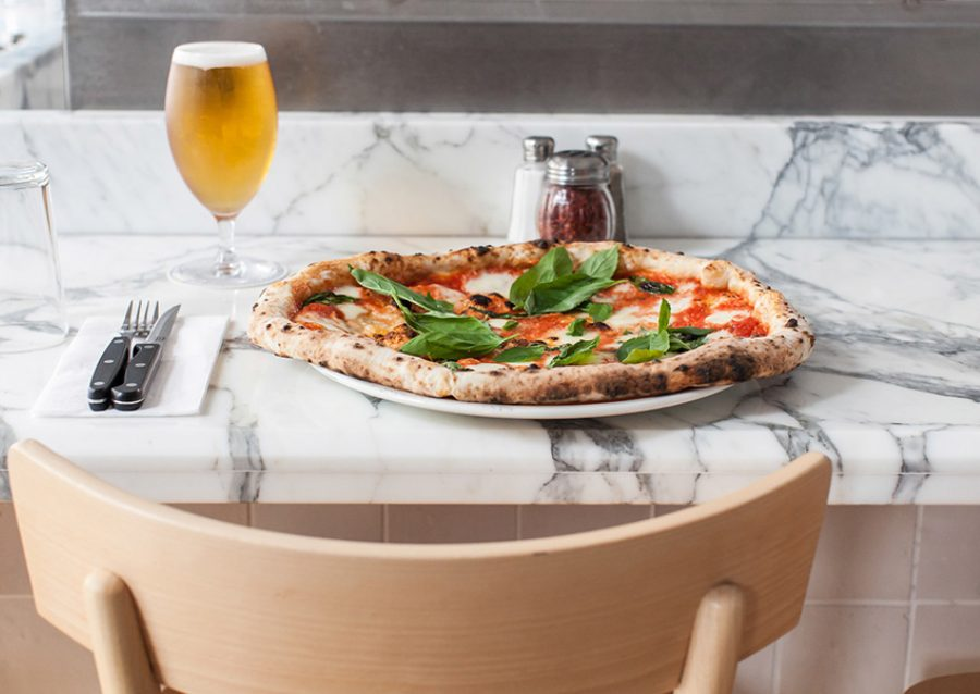 neopolitan pizza and beer