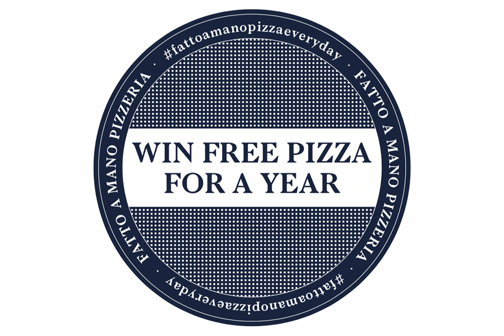 win free pizza for a year fatto a mano brighton hove